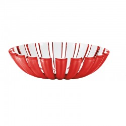 Basket Red - Grace Red And White - Guzzini