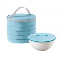 Juego Bolso Térmico Circular con Recipiente Azul - Handy - Guzzini