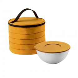 Juego Bolso Térmico Circular con Recipiente Amarillo - Handy - Guzzini