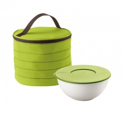 Round Thermal Bag and Container Set Green - Handy - Guzzini