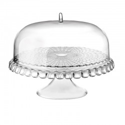 Cake Stand With Dome Clear Ø36cm - Tiffany - Guzzini