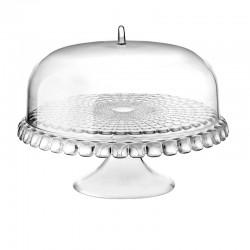 Prato para Bolo com Pé e Campânula Transparente Ø36cm - Tiffany - Guzzini