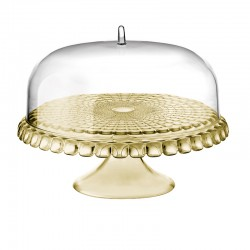 Cake Stand With Dome Sand Ø36cm - Tiffany - Guzzini