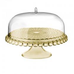 Prato para Bolo com Pé e Campânula Areia Ø36cm - Tiffany - Guzzini