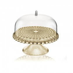 Cake Stand With Dome Sand Ø30cm - Tiffany - Guzzini