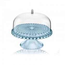 Cake Stand With Dome Blue Ø30cm - Tiffany - Guzzini