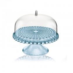 Prato para Bolo com Pé e Campânula Azul Ø30cm - Tiffany - Guzzini