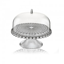 Cake Stand With Dome Grey Ø30cm - Tiffany - Guzzini