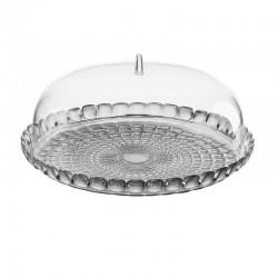 Prato para Bolo e Campânula Cinza Ø36cm - Tiffany - Guzzini