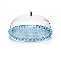 Set Prato para Bolo e Campânula Azul Ø30cm - Tiffany - Guzzini