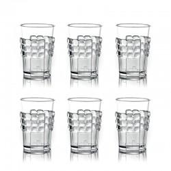 Conjunto de 6 Porta-Copos Transparente - Tiffany - Guzzini