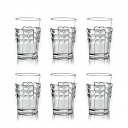 Juego de 6 Portavasos Transparente - Tiffany - Guzzini