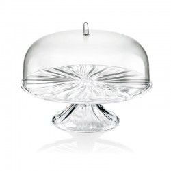 Cake Stand with Dome L - Aqua Clear - Guzzini