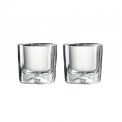 Conj. 2 Copos Térmicos Pequenos com Parede Dupla - Gocce Transparente - Guzzini