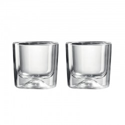 Set of 2 Double Wall Thermo-Glasses - Gocce Clear - Guzzini