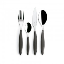 24-Piece Cutlery Set Grey - Feeling - Guzzini