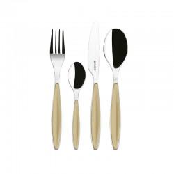 24-Piece Cutlery Set Sand - Feeling - Guzzini