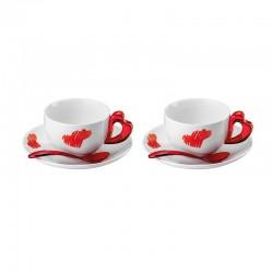 Conj. 2 Chávenas de Cappuccino Vermelho - Love - Guzzini GUZZINI GZ11440065