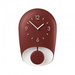 Wall Clock with Pedulum Ruby BELL - Home Ruby/brick Red - Guzzini GUZZINI GZ168604171