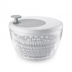 Salad Spinner with Lid Ø26cm White - Spin&Store - Guzzini