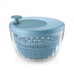 Salad Spinner with Lid Ø26cm Matt Blue - Spin&Store - Guzzini