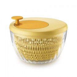 Salad Spinner with Lid Ø26cm Yellow - Spin&Store - Guzzini