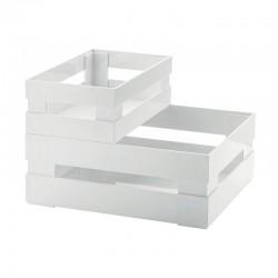 Set of 2 Boxes White - Tidy&Store - Guzzini