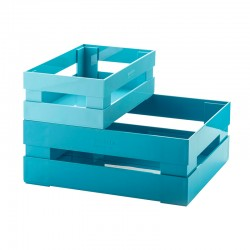 Set of 2 Boxes Blue - Tidy&Store - Guzzini