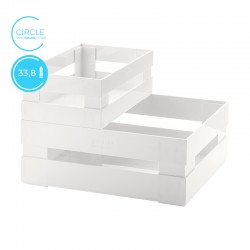 Set of 2 Boxes Circle White - Tidy&Store - Guzzini