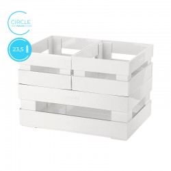 Set of 3 Boxes Circle White - Tidy&Store - Guzzini