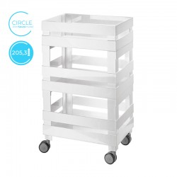 Low Organiser Trolley Circle Grey - Tidy&Store - Guzzini GUZZINI GZ170401100