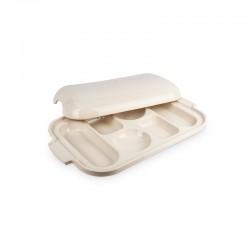 Ceramic Bread Sampler Pan - Appolia Ecru - Peugeot Saveurs
