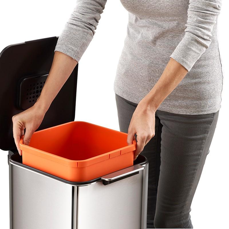 Waste&Recycling Bin 40L Steel - Totem Compact - Joseph Joseph