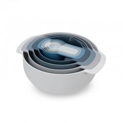 Conjunto de 9 Taças de Mistura - Nest Sky Azul - Joseph Joseph