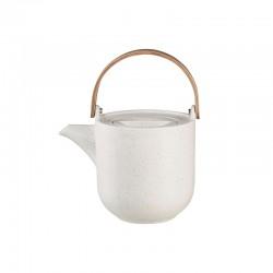 Teapot with Wooden Handle 1lt – Coppa Sencha White - Asa Selection ASA SELECTION ASA19370193