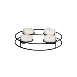 Round Candle Holder Ø24,5cm - Deko Xmas Black - Asa Selection ASA SELECTION ASA99500950