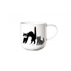 Mug Surprised Cats - Coppa Cats&Dogs White - Asa Selection