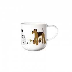 Caneca Cães - Coppa Cats&Dogs Branco - Asa Selection