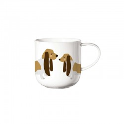 Mug Basset Hound - Coppa Cats&Dogs White - Asa Selection