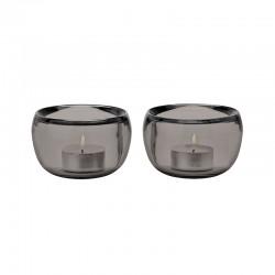 Set of 2 Tealight Holder Smoke - Ora - Stelton