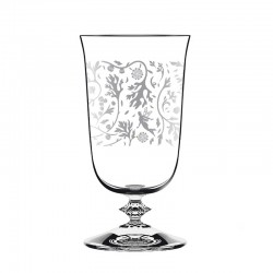 Set of 6 Glasses - Wormwood Alto-Ball Pattern Clear - Italesse