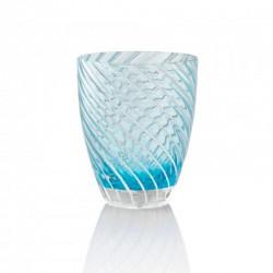 Set of 6 Tumbler Glasses 380ml Blue - Vertigo Blue And White - Italesse