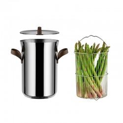 Olla para Cocinar Espárragos - Edo Acero Y Marrón - Alessi ALESSI ALESPU309