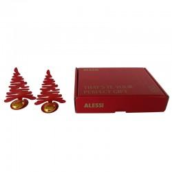 Conjunto de 2 Marcadores de Mesa - Bark For Christmas Vermelho - Alessi ALESSI ALESBM15S2R