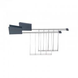 Set 2 Toaster Racks Grey - Plissé - Alessi ALESSI ALESMDL08RACKG