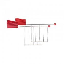 Set 2 Toaster Racks Red - Plissé - Alessi ALESSI ALESMDL08RACKR