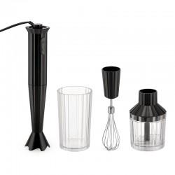 Hand Blender with Accessories Black - Plissé - Alessi ALESSI ALESMDL10SB