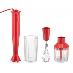 Hand Blender with Accessories Red - Plissé - Alessi ALESSI ALESMDL10SR