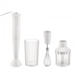Hand Blender with Accessories White - Plissé - Alessi ALESSI ALESMDL10SW