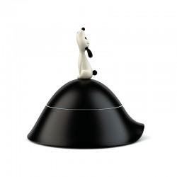 Comedero Perro Ø22cm Negro - Lulà - A Di Alessi A DI ALESSI AALEAMMI19B